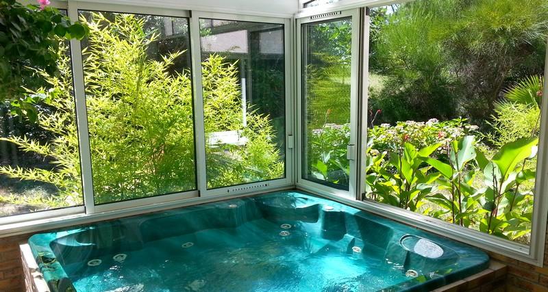 Le spa de la villa du cap ferret - Couverture thermique spa ...